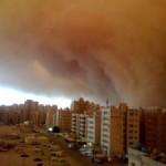 कुवैत मे धूल की सुनामी